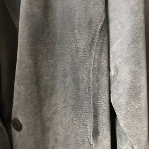 Jackets & Blazers - Grey suede jacket.
